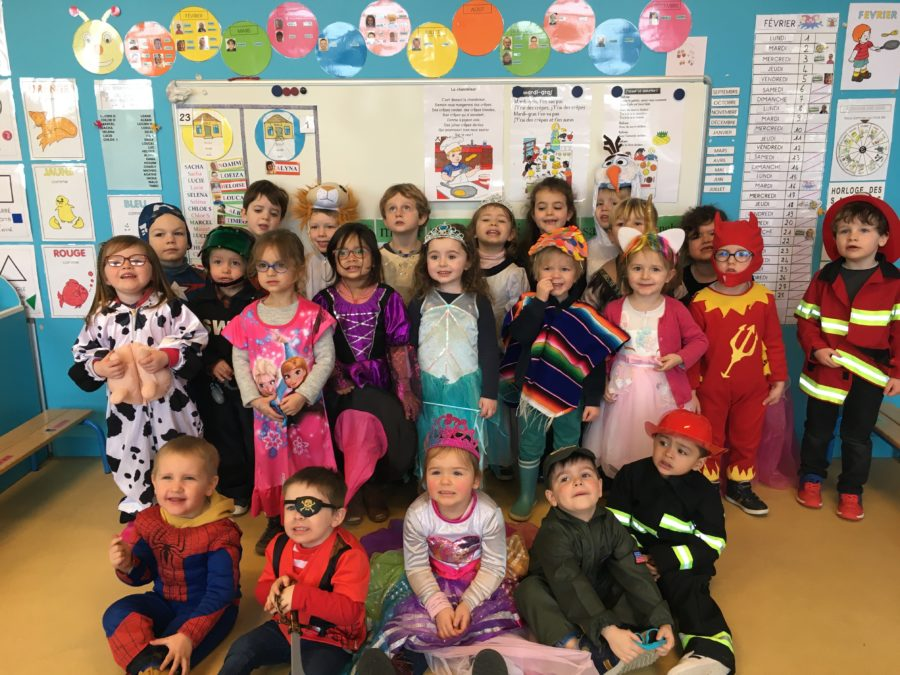 Le carnaval dans notre classe